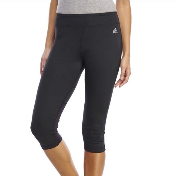 d097a832ef31 adidas Pants - Adidas Climalite Three Quarter Black Capri Pants